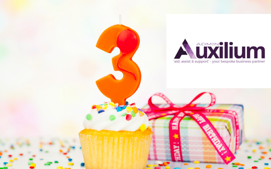 It's my Business Birthday, I am 3!